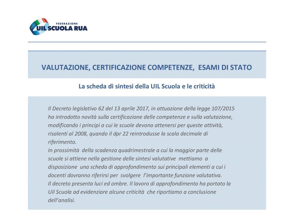 Valutazione, certificazione competenze, esami di Stato