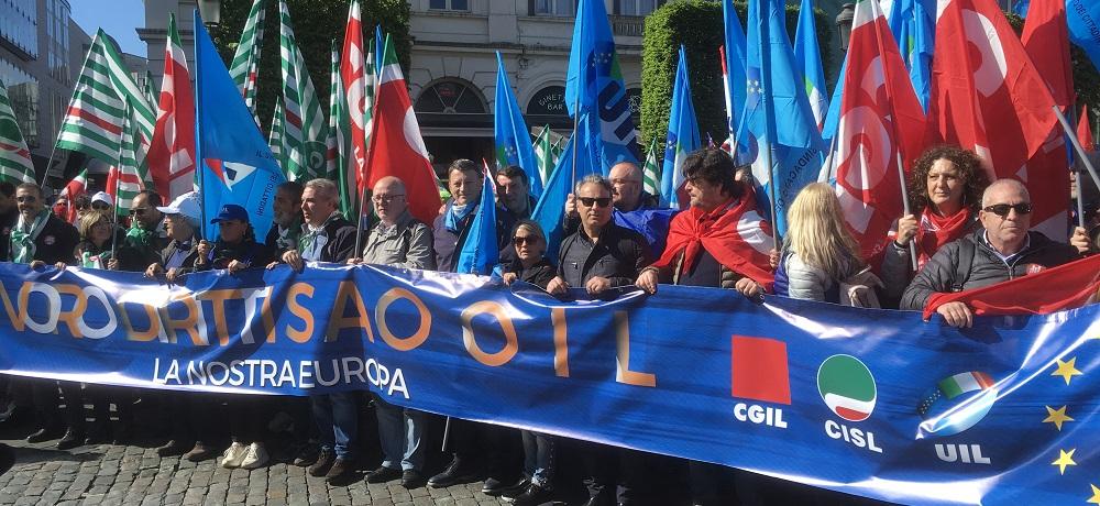 La Uil a Bruxelles alla marcia per un'Europa più equa