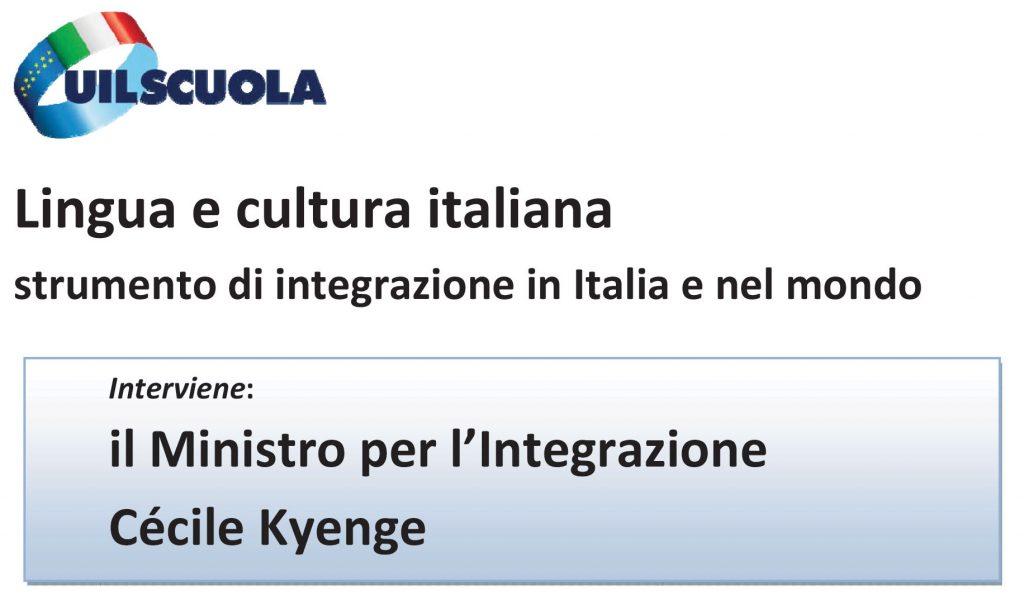 Convegno Uil Scuola   Lingua e cultura italiana, strumento di integrazione in Italia e nel mondo