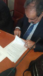 Immagine della galleria: Firma del contratto all'Aran