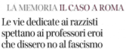 La memoria. Il caso a Roma