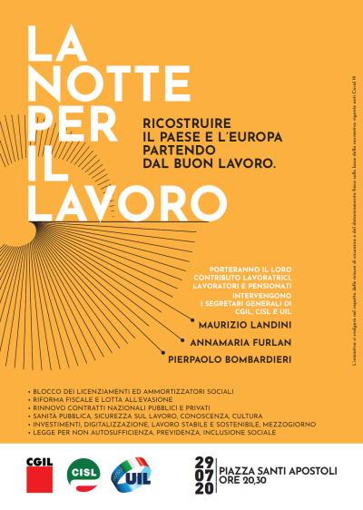 Notte per il lavoro: ricostruire il Paese e L'Europa partendo dal buon lavoro