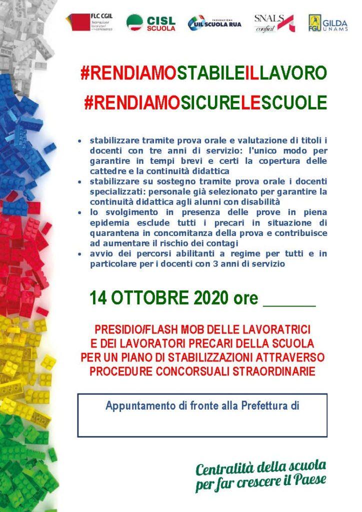 Scuola: domani pomeriggio le iniziative di protesta nelle città italiane per rendere stabile il lavoro e sicure le scuole